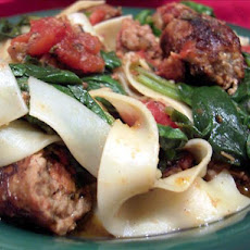 Smoked Turkey Sausage With Pasta