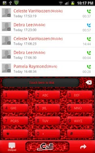 GO CONTACTS - Red Leopard - screenshot