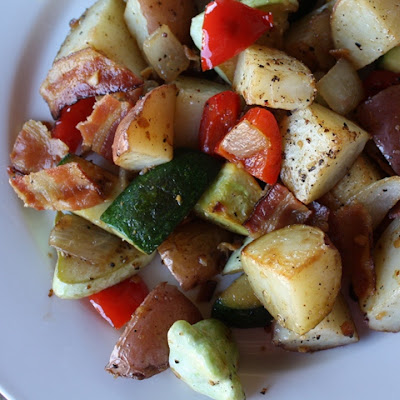 Bacon, Potato and Vegetable Hash
