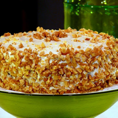 Triple-Layered Spiced Apple Carrot Cake with Goat Cheese Frosting