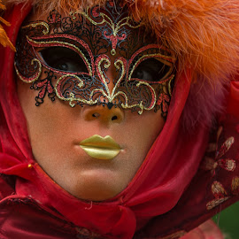 Venetian mask by Jean-Marc Schneider - People Musicians & Entertainers