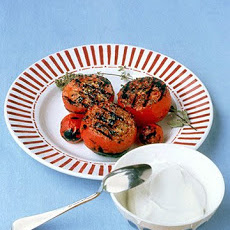 Grilled Tomatoes with Yogurt