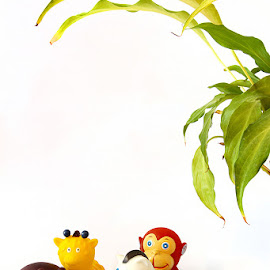 Jungle city by Arti Fakts - Artistic Objects Toys ( elefant, animals, hippo, crocodile, toys, girafe, zebra, monkey )