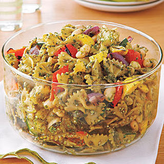grilled vegetable pesto pasta salad myrecipes zucchini pesto pepper ...