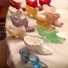 Glass shoe collection by Terry Linton - Artistic Objects Glass