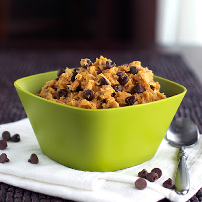 Healthy Chocolate Chip Peanut Butter Cookie Dough