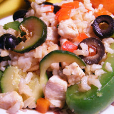 Warm Chicken Breast and Rice Salad