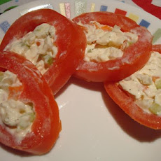 Roma Tomato Rings Stuffed With Cream Cheese