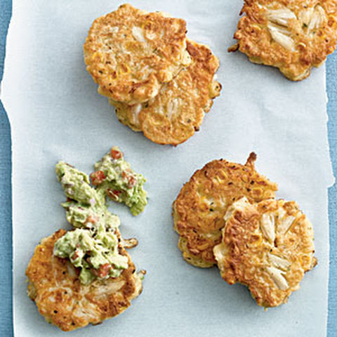 Corn and Crab Fritters with Guacamole