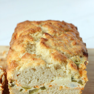 Jalapeno Popper Cream Cheese-Filled Beer Bread