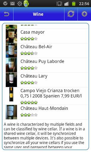 My Wines - Wine Cellar - screenshot