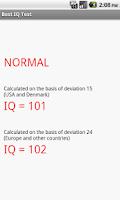 Screenshot of Best IQ Test