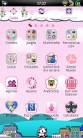 Screenshot of GO Launcher Elegant Pink Theme