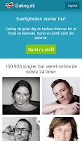 Screenshot of Dating.dk
