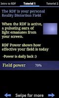 Screenshot of Reality Distortion Field