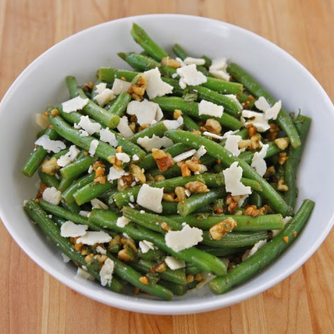 Green Bean Salad with Walnuts, Parmesan and Mint