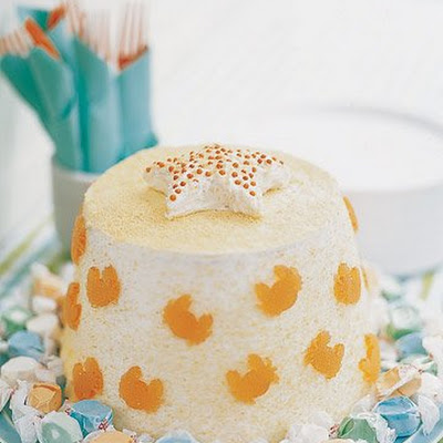 Sand Bucket Angel Food Cake