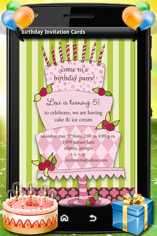 Birthday Party Invitation Card免費玩生活App阿達玩APP - Birthday invitation reminder message