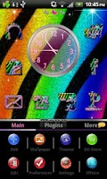 Screenshot of GO Theme Rainbow Zebra Theme