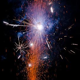 by Neelakantan Iyer - Abstract Fire & Fireworks