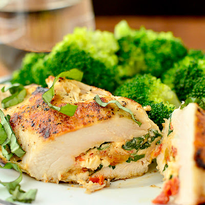 Sun-Dried Tomato and Basil Stuffed Chicken Breasts