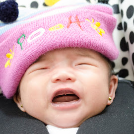 Crying Smile by Justito Elguira Jr - Babies & Children Babies ( baby, smile, cry, baby crying, portrait,  )