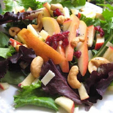 Cashew Salad With Apples & Pears