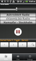 Screenshot of Farsi Radio