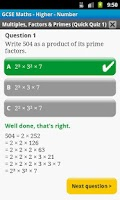 Screenshot of GCSE Maths Number