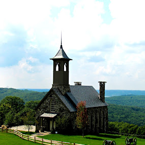 Top of the Rock chapel by Sue Neitzel - Buildings & Architecture Places of Worship ( wedding, romantic, landscapes, chapels )