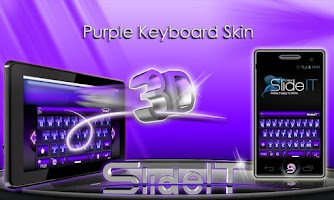 Screenshot of SlideIT Purple 3D Skin