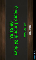 Screenshot of Countdown calendar.
