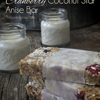 Raw Cranberry Coconut Star Anise Bar