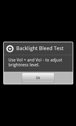 Backlight Bleed Test