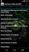 Screenshot of Holy Quran video and MP3