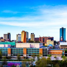 Knoxville, TN 2014 by Justin Solomon - City,  Street & Park  Skylines ( 1982, skyline, sunsphere, sky, park, worldsfairpark, line, monument, town, fair, downtown, city )