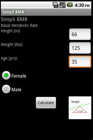 Simpli Basal Metabolic Rate