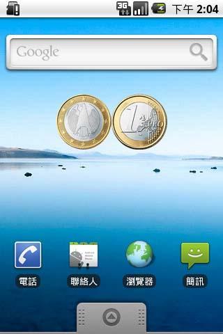 Euro €1 Coin Flip Widget