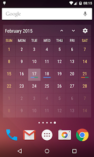 Event Flow Calendar Widget Screenshot