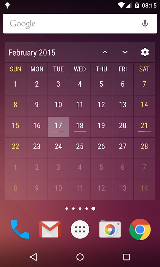 Event Flow Calendar Widget Screenshot 4