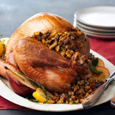 Roast Vermont Turkey with Giblet Gravy and Sausage and Sage Dressing, for Thanksgiving