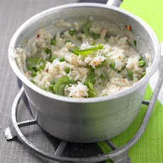 Crab & Pea Risotto With Basil