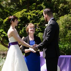 Wedding by Cory Bohnenkamp - Wedding Ceremony ( vows, park, wedding, ceremony, people )