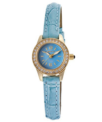 Invicta Women's Angel Blue Dial Blue Genuine Leather