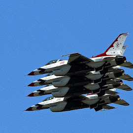 Thunderbirds by Frank Keller - Transportation Airplanes ( thunder, airforce, anchorage, airplanes, alaska, elmendorf artic, thunderbirds )