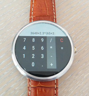 микрокалькулятор Android Wear