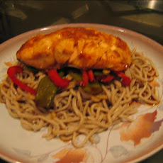 Ginger-Soy Salmon With Soba Noodles