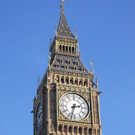 Big Ben by Shona McQuilken - Buildings & Architecture Statues & Monuments ( parliament, england, time, tower, london, clock, big ben, sun )