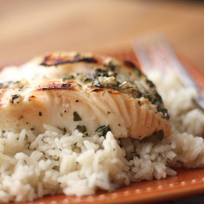 Lemony Garlic and Herb Halibut