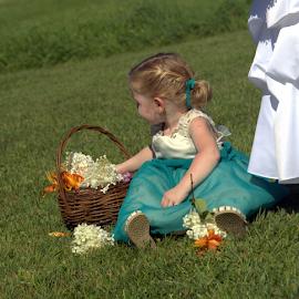 Flower Girl by Janet Lyle - Babies & Children Toddlers ( wedding, children, toddler )